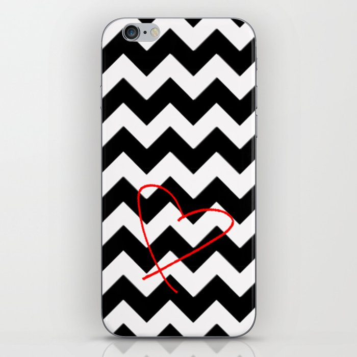 CHEVRON&HEART iPhone Skin