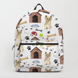 Cairn Terrier Half Drop Repeat Pattern Backpack