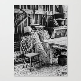 Chair and the Wheat Canvas Print