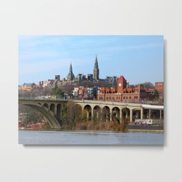 Georgetown Waterfront Washington DC Potomac River Key Bridge Metal Print