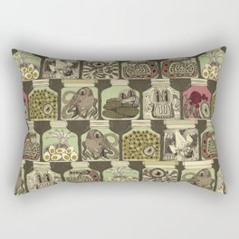 weird pickles vintage Rectangular Pillow