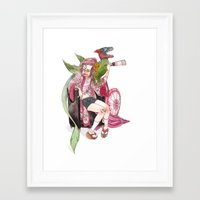bouletcorp Framed Art Prints featuring Geisha Rose by Bouletcorp