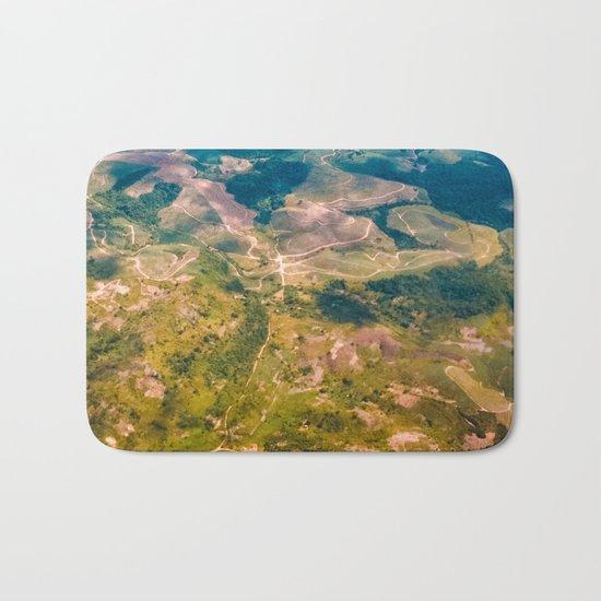 Land from the sky Bath Mat