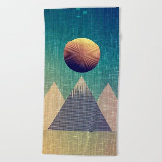 Moonrise Abstract Beach Towel