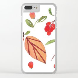 Autumn 1 Clear iPhone Case
