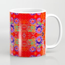 Summer Floral Red Coffee Mug
