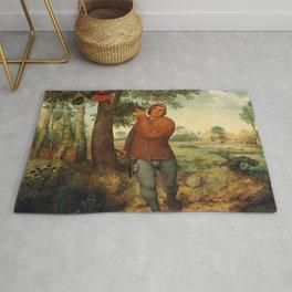 "Pieter Bruegel (also Brueghel or Breughel) the Elder ""The Peasant and the Nest Robber"" Rug"