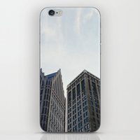 detroit iPhone & iPod Skins featuring Downtown Detroit by Michelle & Chris Gerard
