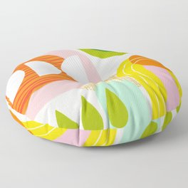 Rise and Shine - Retro Mod Abstract Design Floor Pillow