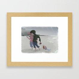 Strollin' on a gloomy day Framed Art Print
