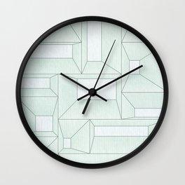 Slanted Window Frames Wall Clock