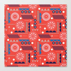 GEOMETRIC RED Canvas Print