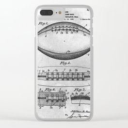 1938 Football Clear iPhone Case