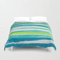 into the wild Duvet Covers featuring Wild by Pattern Pillows