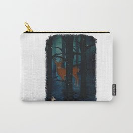 Winter Woods at Night Carry-All Pouch