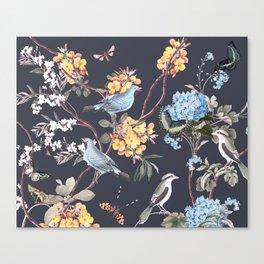BIRDS, BLOSSOMS & BUTTERFLIES Canvas Print