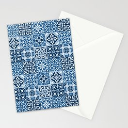 Classic Blue Tiles Stationery Cards