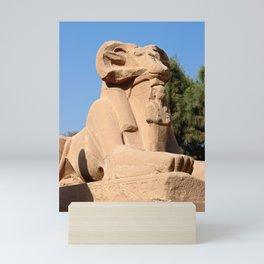 Ram-headed Sphinx in Karnak Mini Art Print