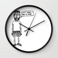 nerd Wall Clocks featuring Nerd by Addison Karl
