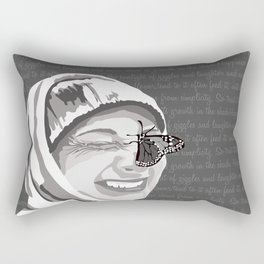Happiness in Grayscale Rectangular Pillow