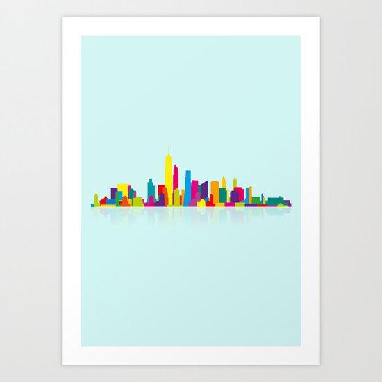 New WTC Skyline Art Print