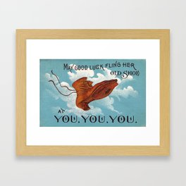 Good Luck Shoe! Framed Art Print