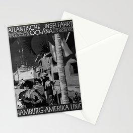 retro noir et blanc Atlantische Jnselfahrt Stationery Cards
