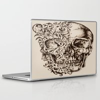 skeleton Laptop & iPad Skins featuring Skeleton by ViviRajski