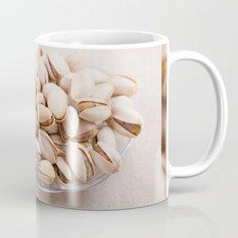 open pistachio nuts in shell Coffee Mug