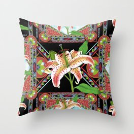Gilding the Lily Pattern Throw Pillow