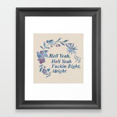 Floral Rap #1 Framed Art Print