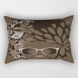 Afro Diva : Brown Sophisticated Lady Rectangular Pillow