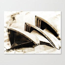 Sydney Opera House  Collection IV Canvas Print