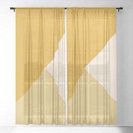 Mustard Tones Sheer Curtain