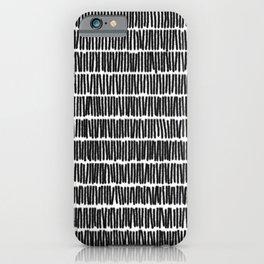 Infinite Lines Pattern - Black iPhone Case