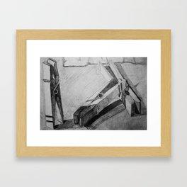 Clothespins Framed Art Print