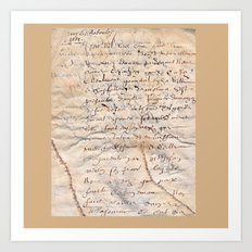 French Parchment Art Print