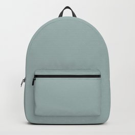 Softened Jade Aqua Green Solid Color Pairs To PPG 2021 Trending Hue Holly Glen PPG1144-4 Backpack
