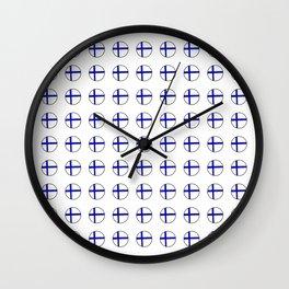 Flag of Finland 5 -finnish, Suomi, Sami,Finn,Helsinki,Tampere Wall Clock