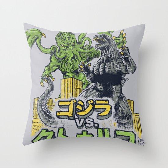 Clash of Goods Throw Pillow