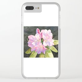 Pink Rhododendron Clear iPhone Case
