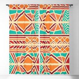 Tribal ethnic geometric pattern 027 Blackout Curtain