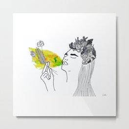Las flores de Frida (Frida´s Flower) Metal Print