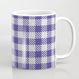 Dark Slate Blue Buffalo Plaid Coffee Mug