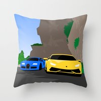 lamborghini Throw Pillows featuring Lamborghini & Bugatti by Szilárd A Legjobb