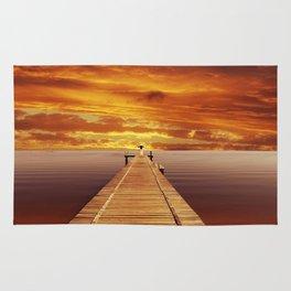 Solitude Sunset on the Lake Rug