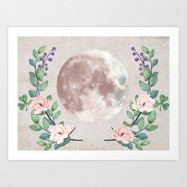 Vanilla Floral D. Art Print