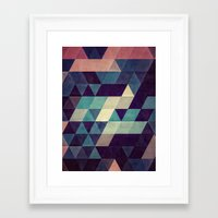 blankets Framed Art Prints featuring cryyp by Spires