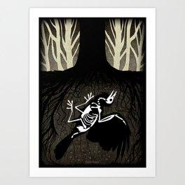 Burial Art Print