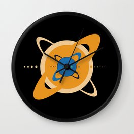 Solar System To Scale - Concentric Wall Clock